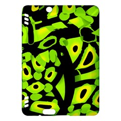 Green neon abstraction Kindle Fire HDX Hardshell Case