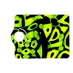 Green neon abstraction Kindle Fire HD (2013) Flip 360 Case