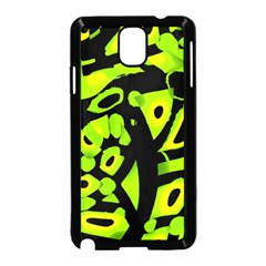 Green neon abstraction Samsung Galaxy Note 3 Neo Hardshell Case (Black)