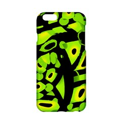 Green neon abstraction Apple iPhone 6/6S Hardshell Case