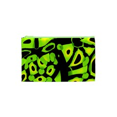 Green neon abstraction Cosmetic Bag (XS)