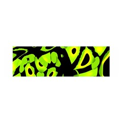 Green neon abstraction Satin Scarf (Oblong)