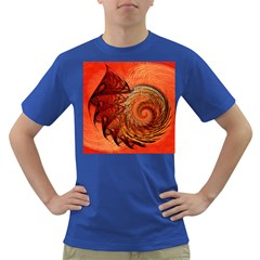 Nautilus Shell Abstract Fractal Dark T Shirt