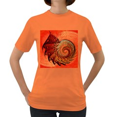 Nautilus Shell Abstract Fractal Women s Dark T Shirt