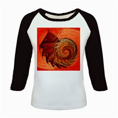 Nautilus Shell Abstract Fractal Kids Baseball Jerseys
