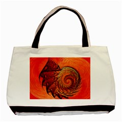 Nautilus Shell Abstract Fractal Basic Tote Bag