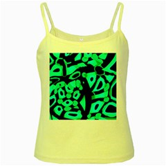 Cyan design Yellow Spaghetti Tank
