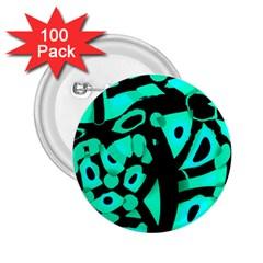 Cyan design 2.25  Buttons (100 pack)