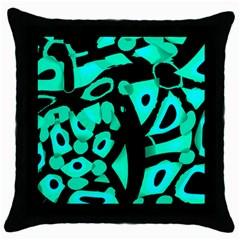 Cyan design Throw Pillow Case (Black)