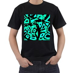 Cyan design Men s T-Shirt (Black)