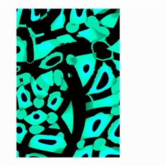 Cyan design Small Garden Flag (Two Sides)