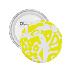 yellow sunny design 2.25  Buttons