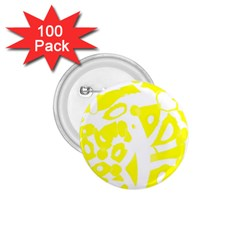 yellow sunny design 1.75  Buttons (100 pack)
