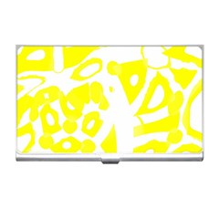 yellow sunny design Business Card Holders