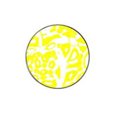 yellow sunny design Hat Clip Ball Marker (4 pack)