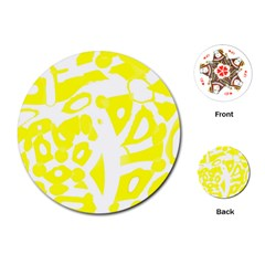 yellow sunny design Playing Cards (Round)