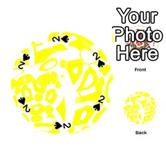 yellow sunny design Playing Cards 54 (Round)