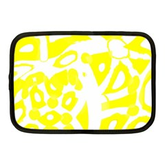 yellow sunny design Netbook Case (Medium)