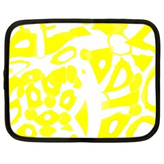 yellow sunny design Netbook Case (Large)