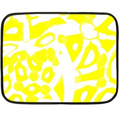 yellow sunny design Fleece Blanket (Mini)