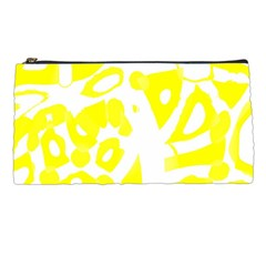 yellow sunny design Pencil Cases