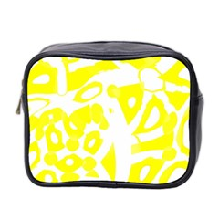 yellow sunny design Mini Toiletries Bag 2-Side
