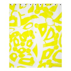 yellow sunny design Shower Curtain 60  x 72  (Medium)