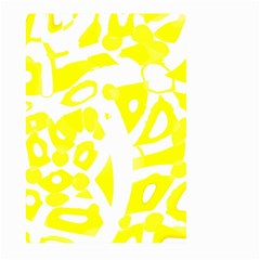 yellow sunny design Large Garden Flag (Two Sides)
