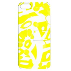 yellow sunny design Apple iPhone 5 Hardshell Case with Stand