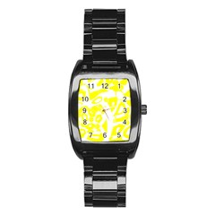 yellow sunny design Stainless Steel Barrel Watch