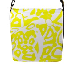yellow sunny design Flap Messenger Bag (L)