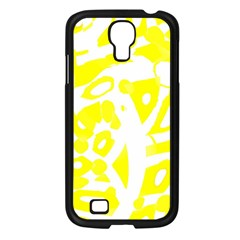 yellow sunny design Samsung Galaxy S4 I9500/ I9505 Case (Black)