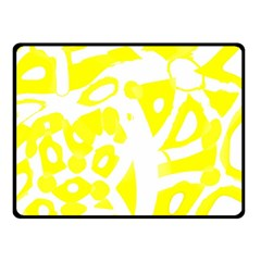 yellow sunny design Double Sided Fleece Blanket (Small)