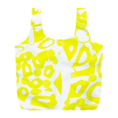 yellow sunny design Full Print Recycle Bags (L)