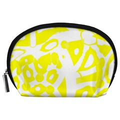 yellow sunny design Accessory Pouches (Large)
