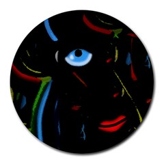 Black magic woman Round Mousepads