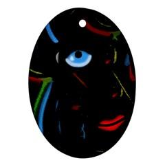 Black magic woman Ornament (Oval)