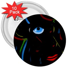 Black magic woman 3  Buttons (10 pack)