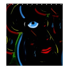 Black magic woman Shower Curtain 66  x 72  (Large)