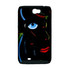 Black magic woman Samsung Galaxy Note 2 Hardshell Case (PC+Silicone)