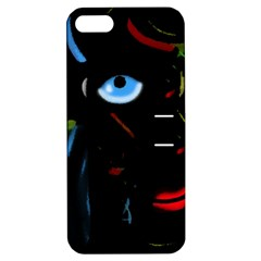 Black magic woman Apple iPhone 5 Hardshell Case with Stand