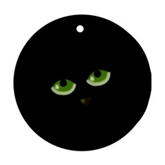 Halloween - back cat Ornament (Round)