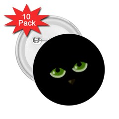 Halloween - back cat 2.25  Buttons (10 pack)