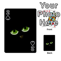 Halloween - back cat Playing Cards 54 Designs