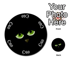 Halloween - back cat Playing Cards 54 (Round)