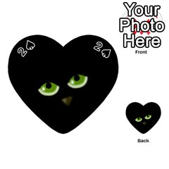 Halloween - back cat Playing Cards 54 (Heart)