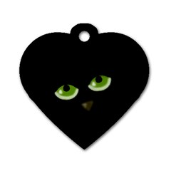 Halloween - back cat Dog Tag Heart (Two Sides)