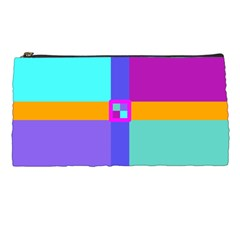 Right Angle Squares Stripes Cross Colored Pencil Cases