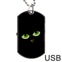 Halloween - back cat Dog Tag USB Flash (One Side)