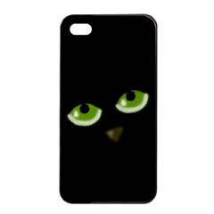 Halloween - back cat Apple iPhone 4/4s Seamless Case (Black)